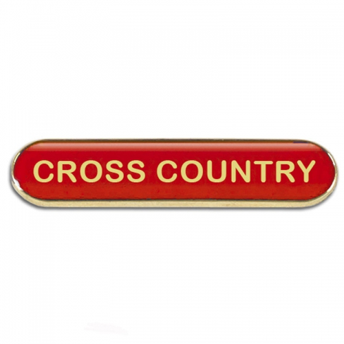 BarBadge Cross Country Red 40 x 8mm