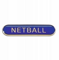 BarBadge Netball Blue Blue 40 x 8mm