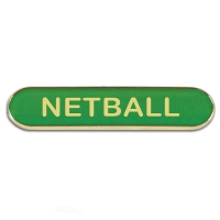 BarBadge Netball Green Green 40 x 8mm