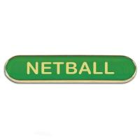 BarBadge Netball Green 40 x 8mm
