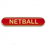 BarBadge Netball Red Red 40 x 8mm