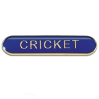 BarBadge Cricket Blue Blue 40 x 8mm