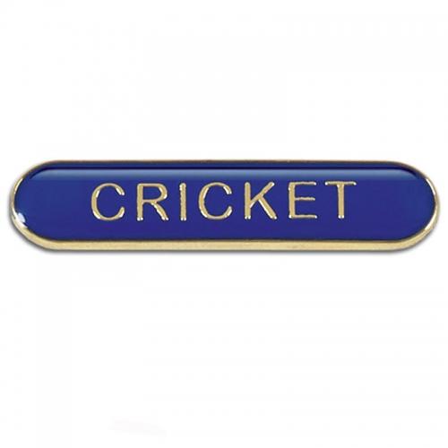 BarBadge Cricket Blue 40 x 8mm