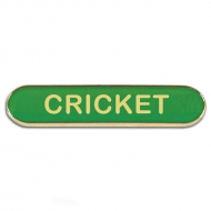 BarBadge Cricket Green Green 40 x 8mm