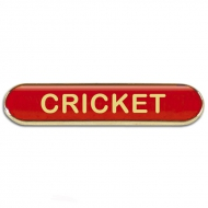 BarBadge Cricket Red Red 40 x 8mm