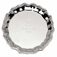 Chippendale8 Salver Silver 8 Inch