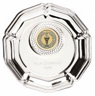 Tudor Rose4 Salver Silver 4 Inch