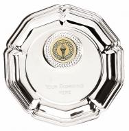 Tudor Rose6 Salver Silver 6 Inch