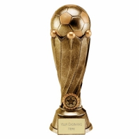 Tower Football Trophy Award Antique Gold 10.75 Inch (27cm) : New 2020