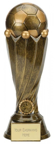 Tower Football Trophy Award Antique Gold 12.25 Inch (31cm) : New 2020
