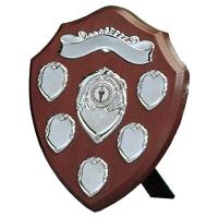 Triumph8 Silver Annual Shield Rosewood/Silver 8 Inch