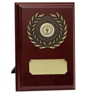 Prize4 Plaque Rosewood/Gold 4 Inch