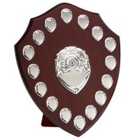 Triumph14 Silver Annual Shield Rosewood/Silver 14 Inch