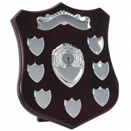 Champion10 Silver Annual Shield Rosewood / Silver 10 Inch
