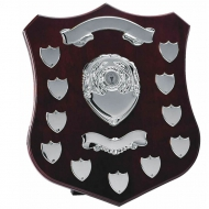 Champion14 Silver Annual Shield Rosewood / Silver 14 Inch