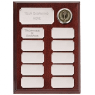 Ashfield Economy Presentation Plaque Silver 8 Inch