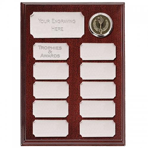 Ashfield Economy Presentation Plaque Silver 8 Inch