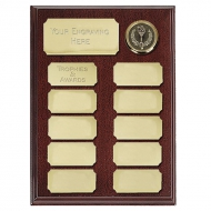 Ashfield8 Economy Plaque Rosewood / Gold 8 Inch