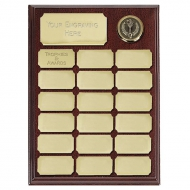 Ashfield9 Economy Plaque Rosewood/Gold 9 Inch