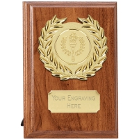 Wessex Walnut Target Plaque - Walnut/Gold - 5 inch (12.5cm) - New 2018