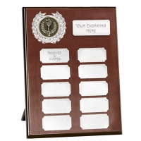 Westminster Budget Record Plaque Silver 7 Inch