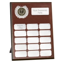 Westminster Budget Record Plaque Silver 8 Inch