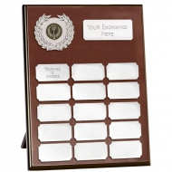 Westminster10 Record Plaque Rosewood/Silver 10 Inch