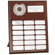 Westminster12 Record Plaque Rosewood/Silver 12 Inch