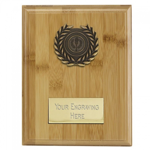 Bamboo Plaque Bamboo/Ant Gold 8.75 Inch