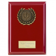 Event Red Plaque Bold Red 4 Inch
