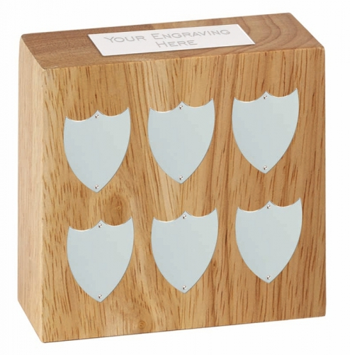 Small Block Annual Trophy Award Silver 3 7/8 x 3 7/8 Inch (10 x 10cm) : New 2020