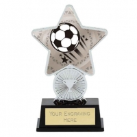 Football Trophy Award Superstar Mini Silver 4.25 Inch (10.5cm) : New 2020