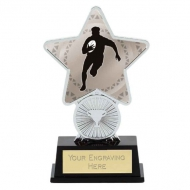 Rugby Trophy Award Superstar Mini Silver 4.25 Inch (10.5cm) : New 2020