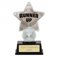 Runner Up Trophy Award Superstar Mini Silver 4.25 Inch (10.5cm) : New 2020