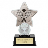 Tennis Trophy Award Superstar Mini Silver 4.25 Inch (10.5cm) : New 2020